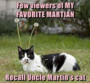 Few viewers of MY FAVORITE MARTIAN  Recall Uncle Martin's cat