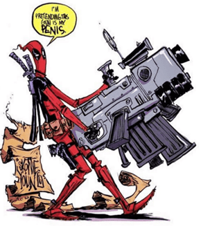 Definitely What Our Favorite Bad-Mouthed Merc Would Say When Brandishing A Fat Gun