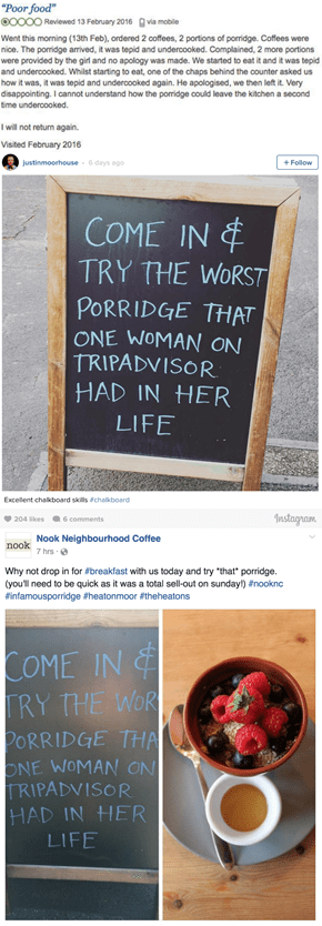 When This British Cafe Got a 1-Star Review They Reacted Brilliantly