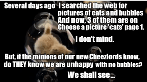 We are watching you, Cheezlords