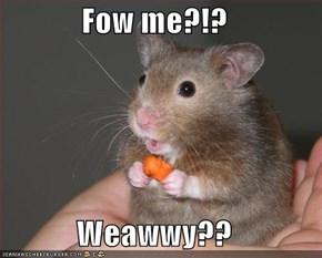 Fow me?!?  Weawwy??