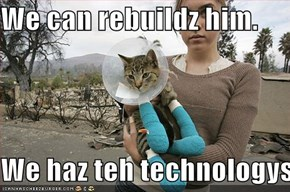 We can rebuildz him.  We haz teh technologys.