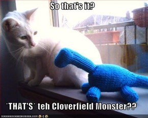 So that's it?  *THAT'S* teh Cloverfield Monster??