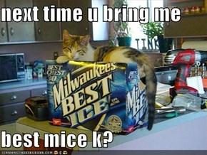 next time u bring me  best mice k?