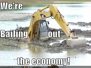 We're Bailing           out the economy!