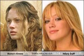 Rome's Eirene TotallyLooksLike.com Hilary Duff