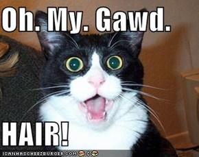 Oh. My. Gawd.  HAIR!