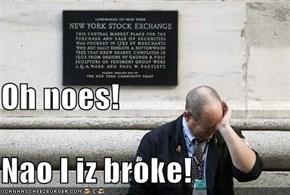 Oh noes! Nao I iz broke!
