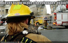 I never try to make cheezburger again!!