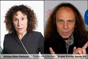 Actress Rhea Perlman TotallyLooksLike.com Singer Ronnie James Dio