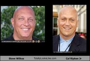 Steve Wilkos TotallyLooksLike.com Cal Ripken Jr