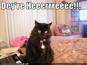 Dey're Heeerrreeee!!!