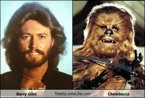 Barry Gibb TotallyLooksLike.com Chewbacca