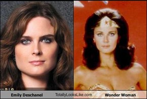 Emily Deschanel TotallyLooksLike.com Wonder Woman