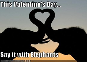 This Valentine's Day...  Say it with Elephants