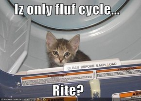 Iz only fluf cycle...  Rite?