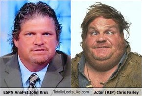 ESPN Analyst John Kruk TotallyLooksLike.com Actor (RIP) Chris Farley