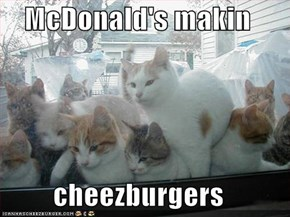 McDonald's makin  cheezburgers