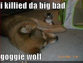 i killied da big bad   goggie wolf