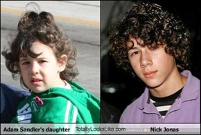 Adam Sandler's daughter TotallyLooksLike.com Nick Jonas