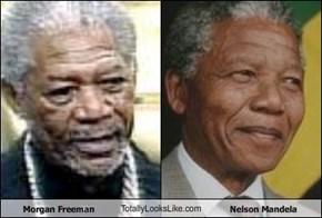 Morgan Freeman TotallyLooksLike.com Nelson Mandela