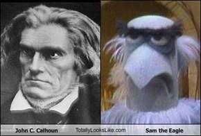 John C. Calhoun TotallyLooksLike.com Sam the Eagle