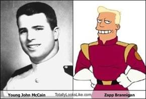 Young John McCain TotallyLooksLike.com Zapp Brannigan