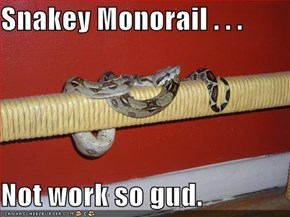 Snakey Monorail . . .   Not work so gud.