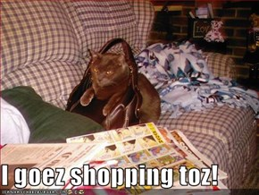 I goez shopping toz!