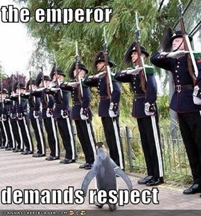 the emperor  demands respect