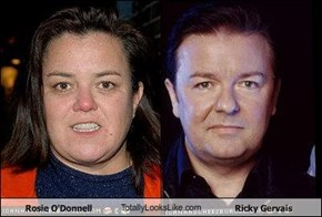 Rosie O'Donnell TotallyLooksLike.com Ricky Gervais
