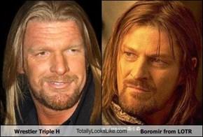 Wrestler Triple H TotallyLooksLike.com Boromir from LOTR