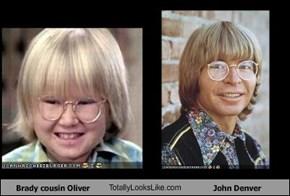 Brady cousin Oliver TotallyLooksLike.com John Denver