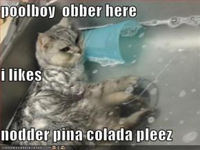 poolboy  obber here i likes nodder pina colada pleez