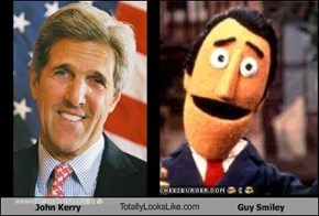 John Kerry TotallyLooksLike.com Guy Smiley