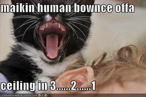 maikin human bownce offa  ceiling in 3......2......1
