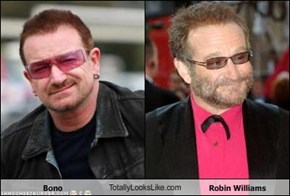 Bono TotallyLooksLike.com Robin Williams