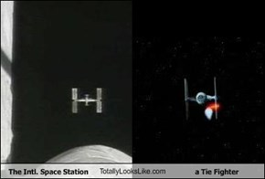 The Intl. Space Station TotallyLooksLike.com a Tie Fighter