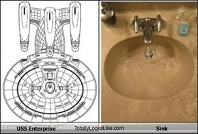 USS Enterprise TotallyLooksLike.com Sink