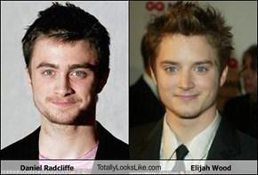 Daniel Radcliffe TotallyLooksLike.com Elijah Wood