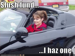 Slush fund...  ...I haz one