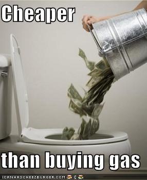 Cheaper  than buying gas
