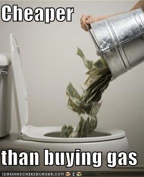 Cheaper  than buying gas