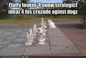 Evolushn of chess bringed up noow most powerfulpiece: DA Kitteh.