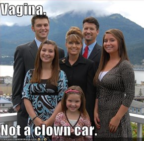 Vagina.  Not a clown car.