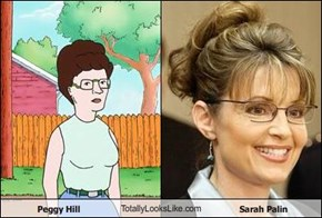 Peggy Hill TotallyLooksLike.com Sarah Palin