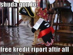 shuda gon to   free kredit riport aftir all