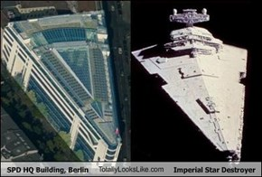 SPD HQ Building, Berlin TotallyLooksLike.com Imperial Star Destroyer