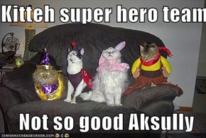Kitteh super hero team  Not so good Aksully
