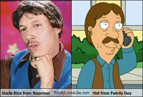 Uncle Rico from Napolean Dynaminte TotallyLooksLike.com Bruce the Performance Artist from Family Guy